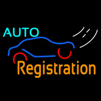 Auto Registration Neonskylt