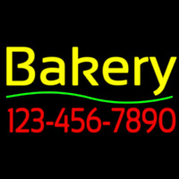 Bakery With Phone Number Neonskylt