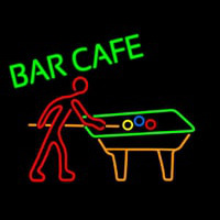 Bar Cafe With Pool Neonskylt