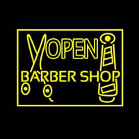 Barber Shop Open Neonskylt
