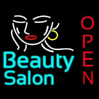 Beauty Salon Open Neonskylt