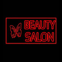 Beauty Salon With Butterfly Log Neonskylt