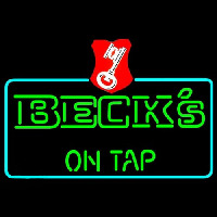Beck On Tap Key Label Beer Neonskylt