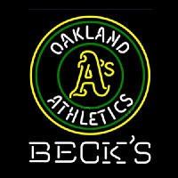 Becks Oakland Athletics Neonskylt