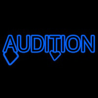 Blue Audition Block Neonskylt