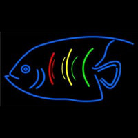 Blue Fish Logo Neonskylt