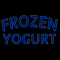 Blue Frozen Yogurt Neonskylt
