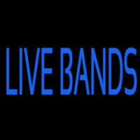 Blue Live Bands 2 Neonskylt