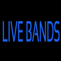 Blue Live Bands Neonskylt