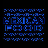 Blue Mexican Food Outdoor Neonskylt