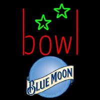 Blue Moon Bowling Alley Beer Sign Neonskylt
