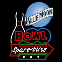 Blue Moon Bowling Spare Time Beer Sign Neonskylt