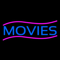 Blue Movies Neonskylt
