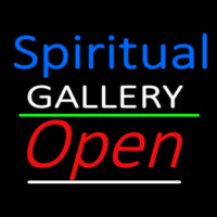 Blue Spritual White Gallery With Open 3 Neonskylt