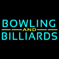 Bowling And Billiards 3 Neonskylt