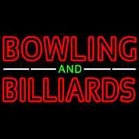 Bowling And Billiards Neonskylt