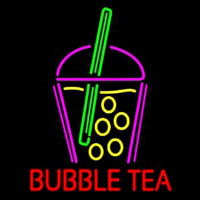 Bubble Tea With Glass Neonskylt