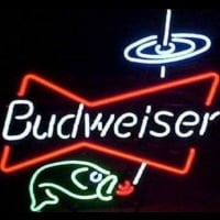 Budweiser Bowtie fish Beer Bar Neonskylt