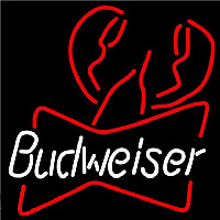 Budweiser Lobster Beer Sign Neonskylt