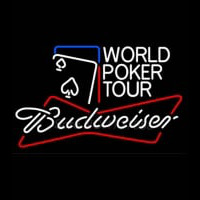 Budweiser World Poker Tour Neonskylt
