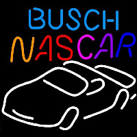 Busch Nascar Beer Sign Neonskylt