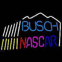Busch Nascar mountain Beer Sign Neonskylt