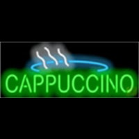 Cappuccino Cafe Food Neonskylt