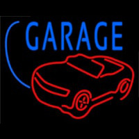Car Logo Garage Block Neonskylt