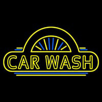 Car Wash Logo Neonskylt