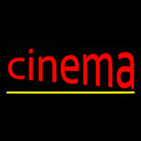 Cinema With Line Neonskylt