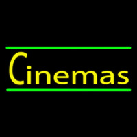 Cinemas With Green Line Neonskylt