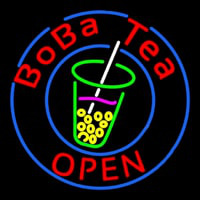 Circle Boba Tea Neonskylt
