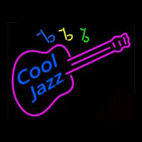 Cool Jazz Guitar Neonskylt