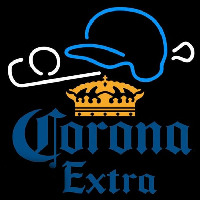 Corona E tra Baseball Beer Sign Neonskylt