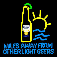 Corona E tra Miles Away From Other s Beer Sign Neonskylt