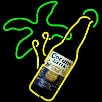 Corona E tra Palm Tree Bottle Beer Sign Neonskylt