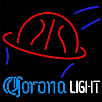 Corona Light Basketball Beer Sign Neonskylt