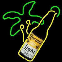 Corona Light Bottle Beer Sign Neonskylt