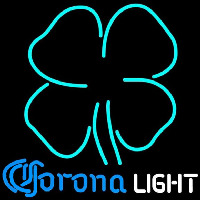 Corona Light Clover Beer Sign Neonskylt