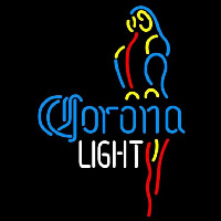 Corona Light Parrot Beer Sign Neonskylt