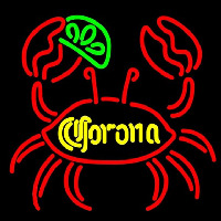 Corona Lime Crab Beer Sign Neonskylt