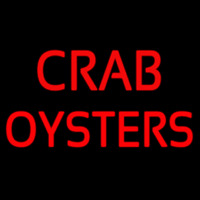 Crab Oysters Neonskylt