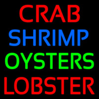 Crab Shrimp Lobster Oyster Neonskylt