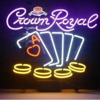Crown Royal Poker Chips Neonskylt