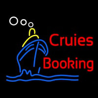 Cruise Booking Neonskylt