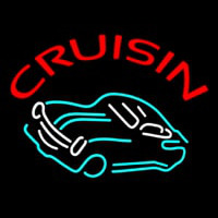Crusin Car Logo Neonskylt