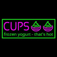 Cups Frozen Yogurt Neonskylt