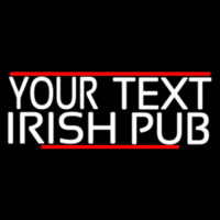 Custom Irish Pub With Red Line Neonskylt