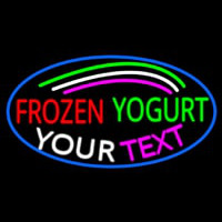 Custom Made Frozen Yogurt Neonskylt