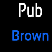 Custom Pub Brown 2 Neonskylt